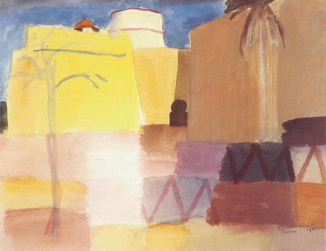 Louis Moilliet: Kastell in Tunis I