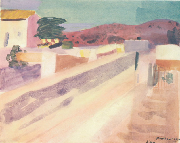 Louis Moilliet: Strasse in Sitges I